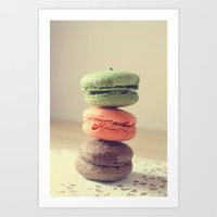 macaroons Art Prints featuring Macaroons by Adeline Lee