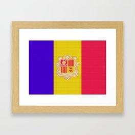 Andorra Flag (Patchwork) Framed Art Print