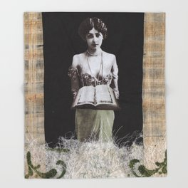 The High Priestess #2 Throw Blanket