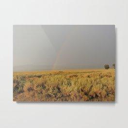 Rainbow Over the Sagebrush Metal Print