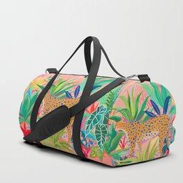 Leopard in Succulent Garden Duffle Bag