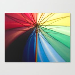 Under a Twirling Umbrella Canvas Print