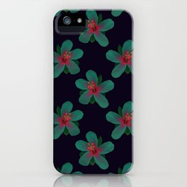 Glowing Hibiscus at Dusk iPhone Case