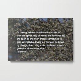 Seneca Quote Metal Print