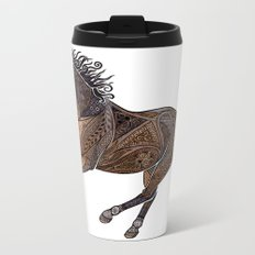 Grecian Horse Metal Travel Mug