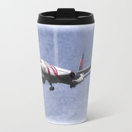 Delta Airlines Boeing 767 Art Travel Mug