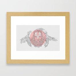 Holy cockfight Framed Art Print