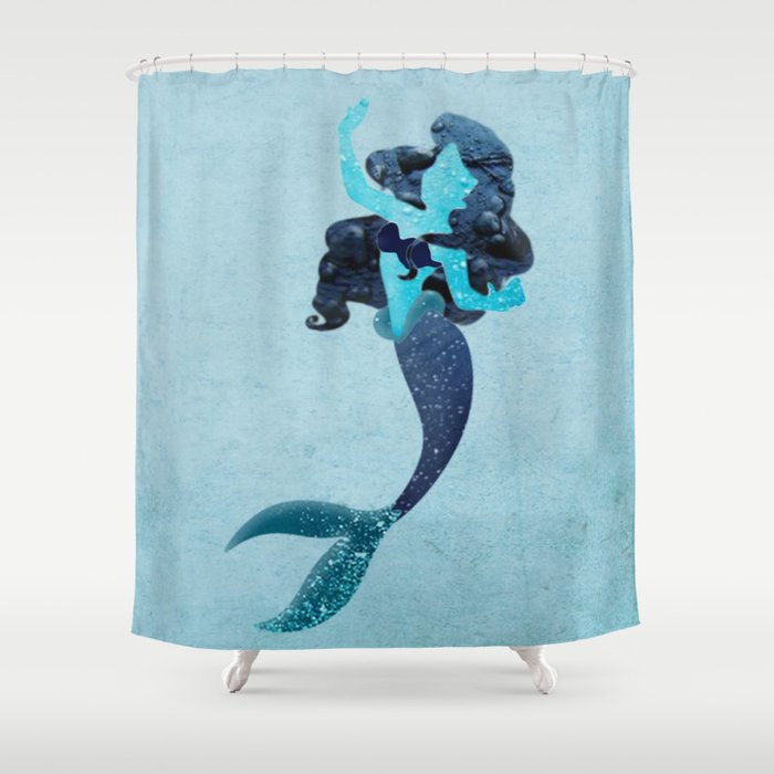 Ariel Shower Curtain By Fauxglam