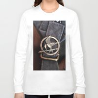mockingjay Long Sleeve T-shirts featuring Mockingjay by AndyGD