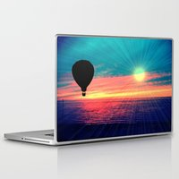 baloon Laptop & iPad Skins featuring BRIGHTEN by Laura Santeler