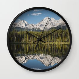 Mountain reflection Wall Clock