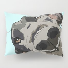 Great Dane in your face (teal) Pillow Sham