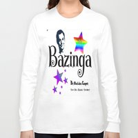 humor Long Sleeve T-shirts featuring Sheldon Humor by SwanniePhotoArt