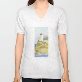Peaceful Lighthouse II Unisex V-Neck