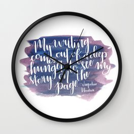 Story on the Page Wall Clock