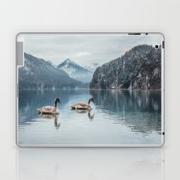 Couple of swans, Alpsee lake Laptop & iPad Skin