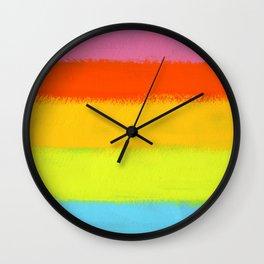 Rainbow Painting Wall Clock