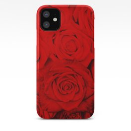 Some people grumble- Floral Red Rose Roses Flowers Garden iPhone Case