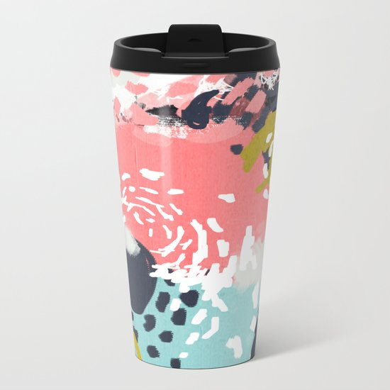Athena - abstract painting hipster home decor trendy color palette art gifts Metal Travel Mug