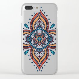 Rubino Zen Flower Yoga Mandala Floral Clear iPhone Case