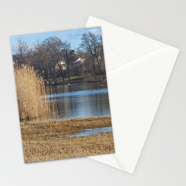 Tall Grass Around The Lake Stationery Cards