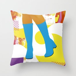 Girly Boots #2 Throw Pillow