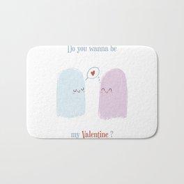 Do you wanna be my valentine? Bath Mat