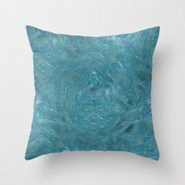 Teal Maelstrom Throw Pillow