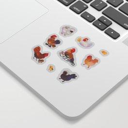 Chicken and Chick - dark Sticker