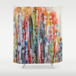 petit jardin 1 Shower Curtain
