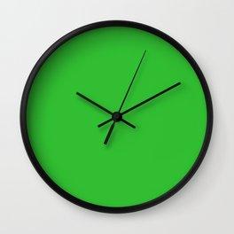 Grass Green Wall Clock