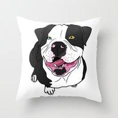 Bubba, the American Bulldog Throw Pillow