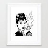 tiffany Framed Art Prints featuring Tiffany by AdamWillis