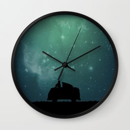 Looking Up at the Night Sky Wall Clock