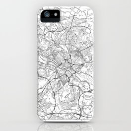 Leeds Map White iPhone Case