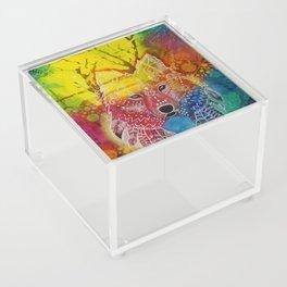 Dream Time Wolf Acrylic Box