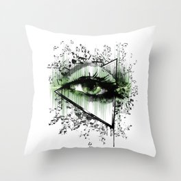 Seeing Sounds Throw Pillow