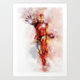 The incredible man of iron Art Print