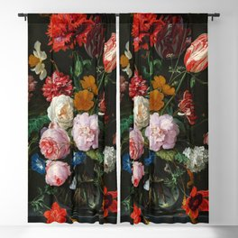 "Jan Davidsz. de Heem ""Still Life with Flowers in a Glass Vase"" Blackout Curtain"