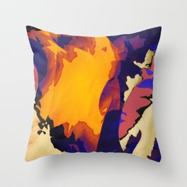 Morning Purple Throw Pillow