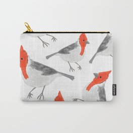 red crested cardinal pattern Carry-All Pouch