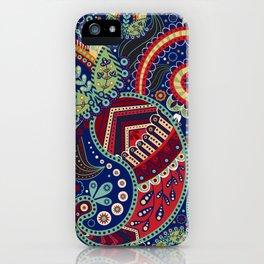 Colorful khohloma pattern iPhone Case