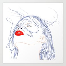 Your Hair Art Print
