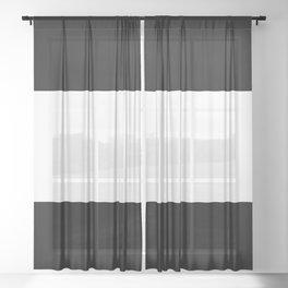 Black and white stripes Art Sheer Curtain
