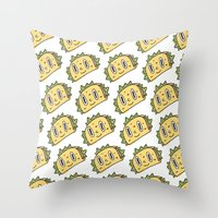 taco Throw Pillows featuring Taco Buddy by Frenemy