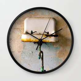 Rusted Sink Wall Clock
