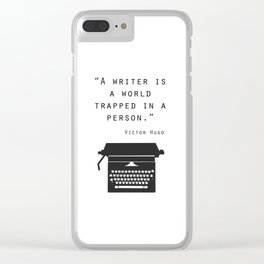 A Writer Is A World Trapped In A Person Clear iPhone Case