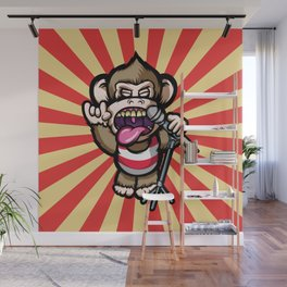 Ape Mic Wall Mural