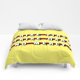 Cobra Kai (Rule of Threes) Comforters