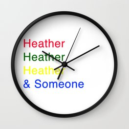 Heather, Heather, Heather, and Someone Wall Clock